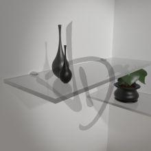 Regale mattiertes Glas, maßgeschneiderte