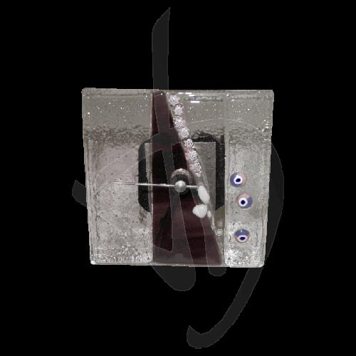 tischuhr-aus-muranoglas-dunkelviolett-handgefertigt