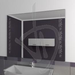 Specchio bagno, con decoro A038