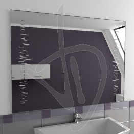 Specchio moderno, con decoro A032