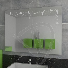 Specchio grande da parete, con decoro A027