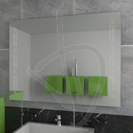 Specchio bagno design, con decoro A038
