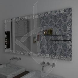 Specchio decorativo, con decoro B026