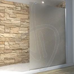 Vetro doccia fisso, su misura, in vetro satinato