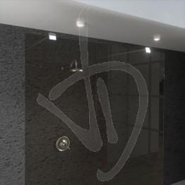 wand-befestigt-dusche-gewohnheit-glas-gebraeunte