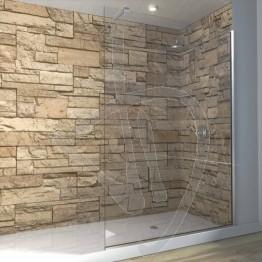 Vetro doccia fisso, in vetro trasparente