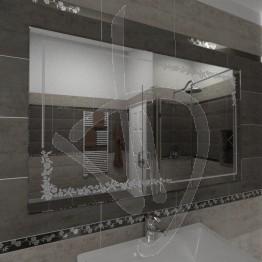 Specchio bagno, con decoro C005