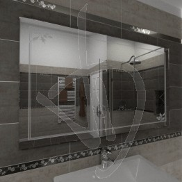 Specchio decorativo, con decoro C014