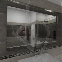 Specchio per bagno, con decoro C013