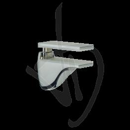 Reggimensola per carichi medi, Misure 65/78xP80 mm, Spessore vetro 8-21 mm