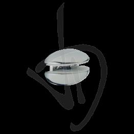 Reggimensola per carichi leggeri, Misure 42/72xP40mm, Spessore vetro 4-21 mm
