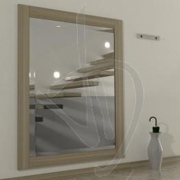 Specchio da ingresso, con cornice in legno massello in rovere naturale