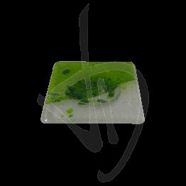 Portacandela in vetro di Murano, toanalità verde, realizzato a mano