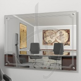 Specchio online, con distanziali e decoro B020