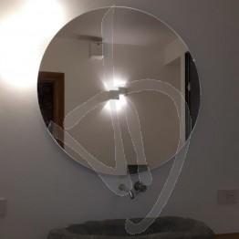 Specchio rotondo da appendere, su misura