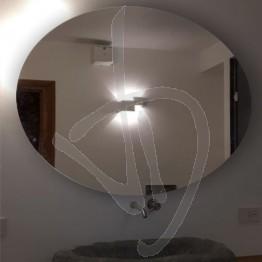 Specchio ovale senza cornice, da appendere su misura