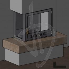 Struttura Angolare in ferro (angolo 90° a sinistra)