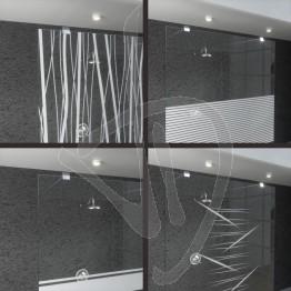 wand-befestigt-dusche-gewohnheit-ultra-klarglas-verziert