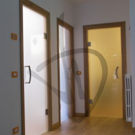 Porte decorate in vetro